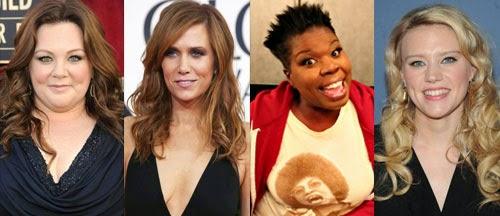 Ghostbusters reboot cast Melissa McCarthy Kristen Wiig Leslie Jones Kate McKinnon