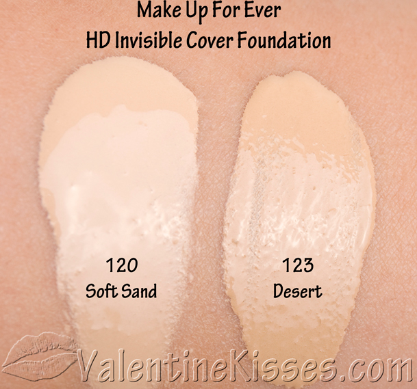 valentine kisses make up for ever hd invisible cover