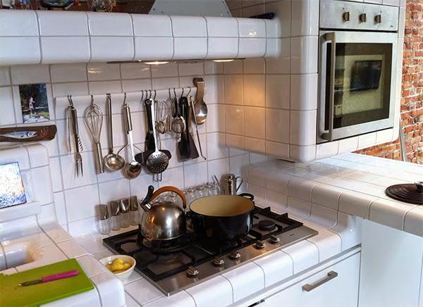 cucine country » piastrelle cucine country - ispirazioni design ... - Mattonelle 10x10 Cucina In Muratura