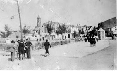 La Plaza España de Binéfar. Foto histórica