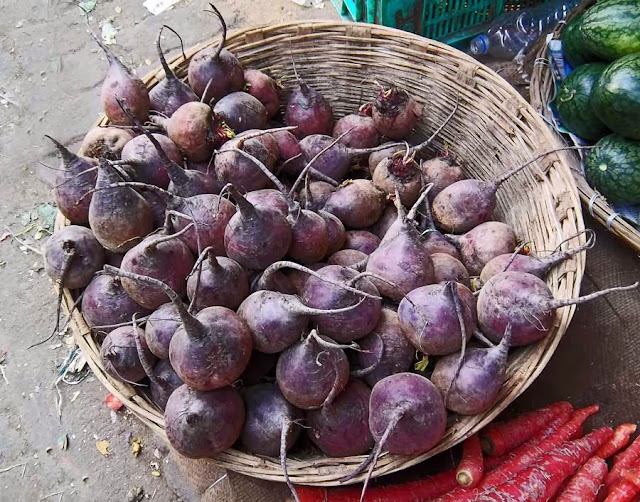 images of beets in a basket
