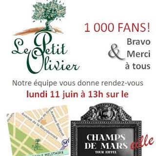 100 crèmes douche Framboise Le Petit Olivier seront offertes à Paris
