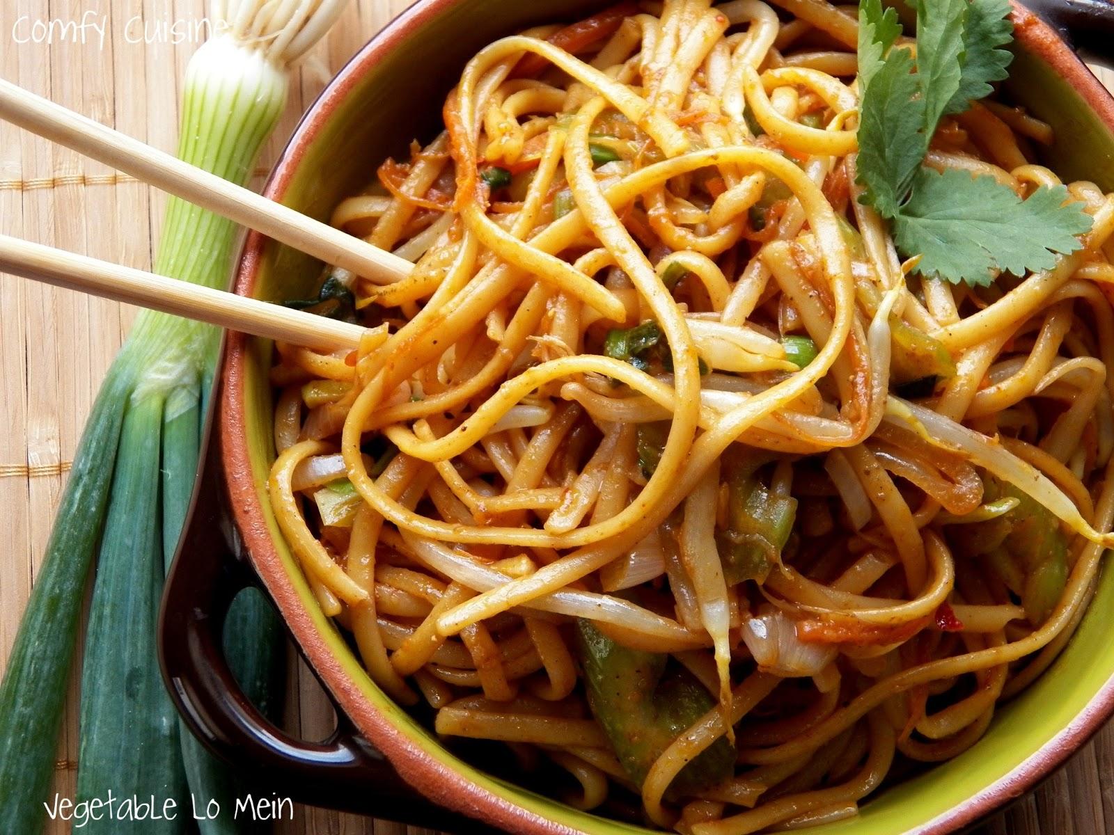vegetable lo mein 1 2 lb lo mein noodles or