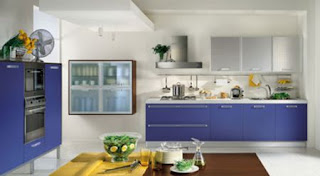 Blue Kitchen Cabinets Design