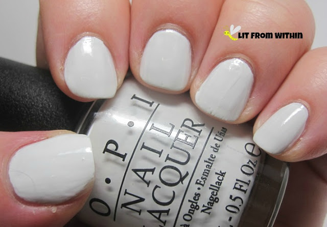 OPI My Boyfriend Scales Walls, a lovely off-white that applies so smoothly