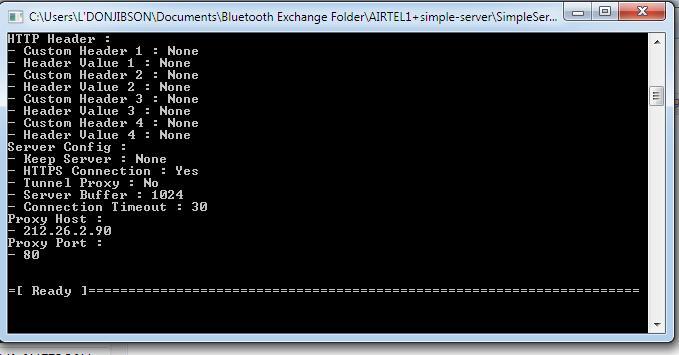simple server airtel pc