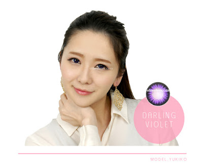 Darling Violet Contact Lenses at ohmylens.com