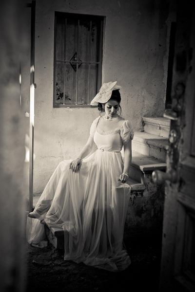שמלת כלה משיפון צנועה