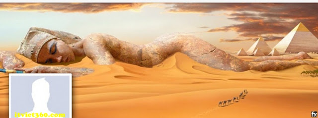Ảnh bìa facebook 3D đẹp độc đáo - Cover FB timeline nice, cô gái nằm trên cát