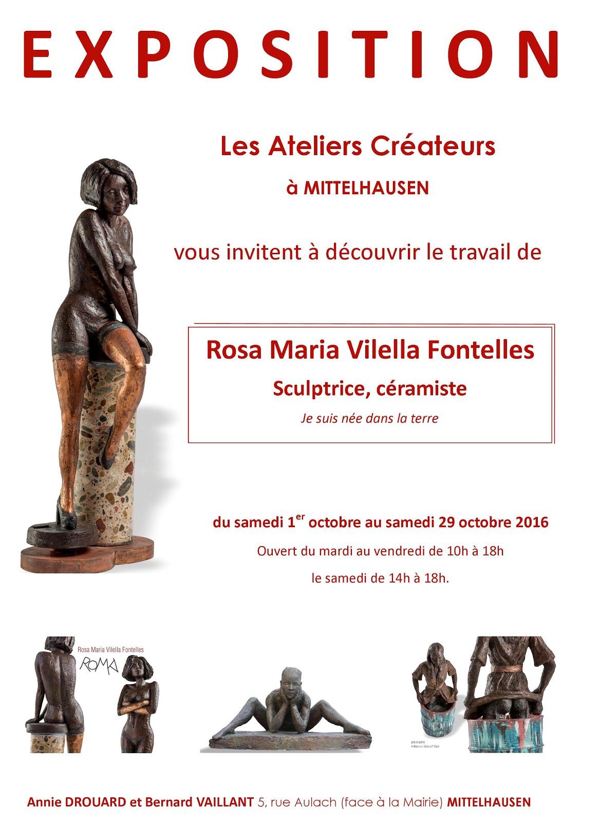 Rosa Maria Vilella Fontelles, artiste céramiste expose aux Ateliers Créateurs