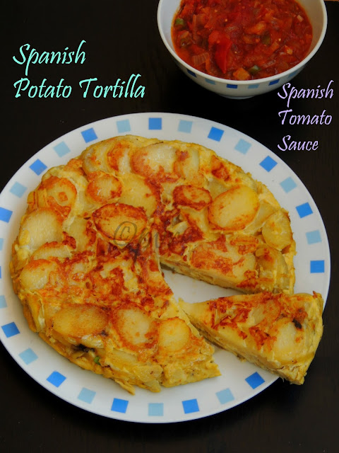 Spanish Potato Tortilla & Spanish tomato sauce