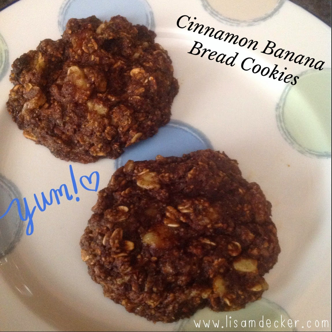 Healthy Cookies, Healthy Dessert, Banana Bread Cookies, Cinnamon Banana Bread Cookies