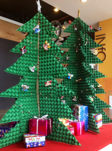 Egg Crate Christmas Tree
