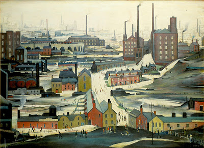 Lowry - Industrial Landscape( Ashton-under-Lyn ) , 1952.