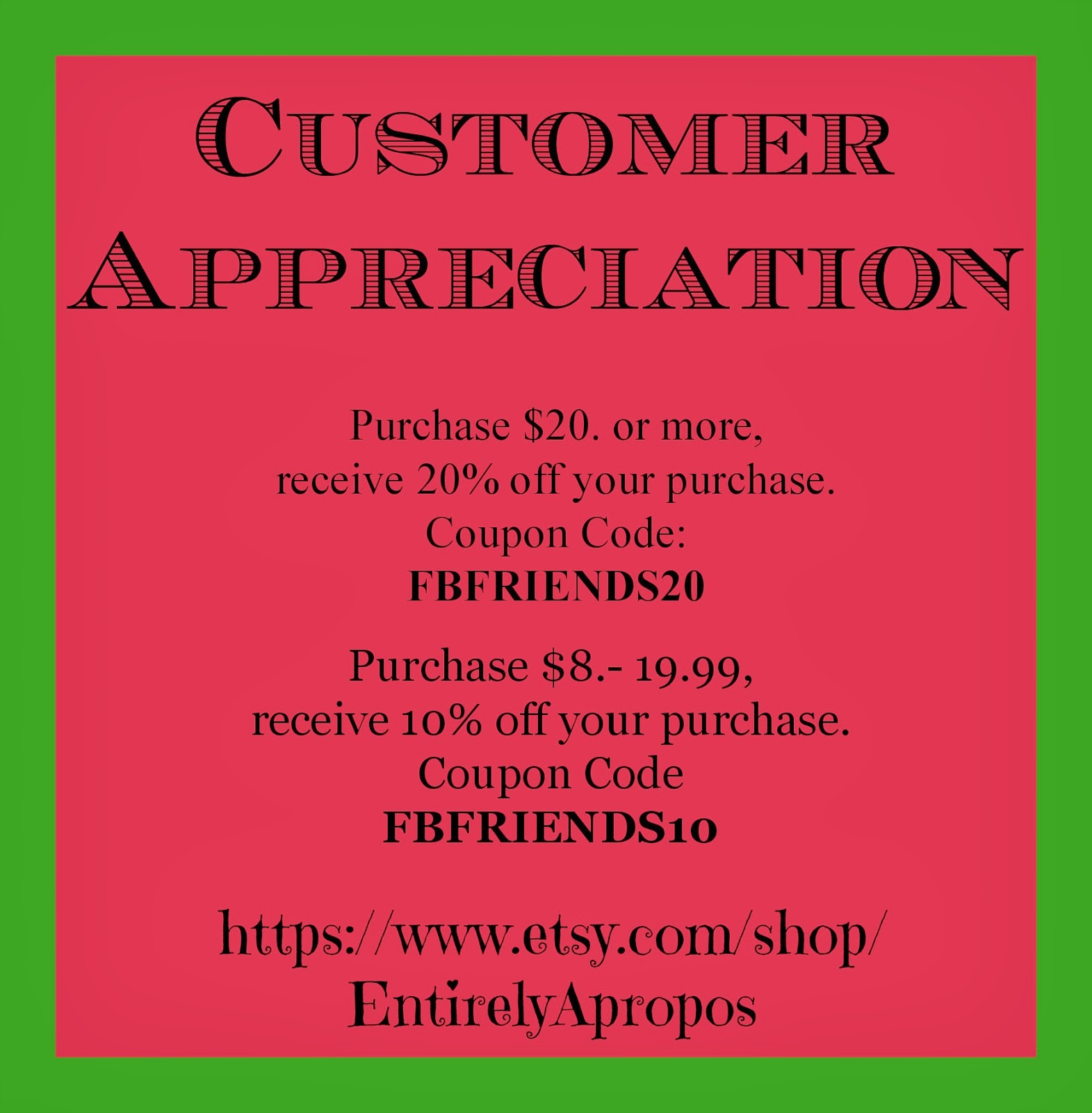 Etsy coupon code december 2019