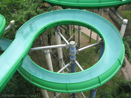 Twisted slide of Splash Island Waterpark