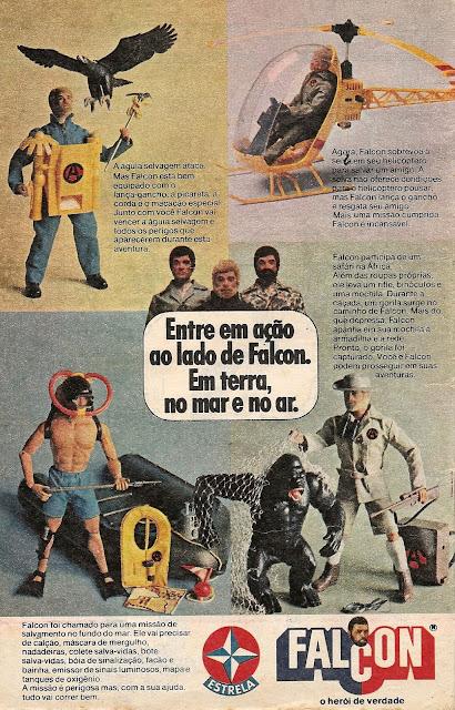 Propaganda do boneco Falcon da Estrela veiculada em 1978.