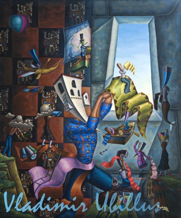 Los Tejedores en el Cusco, (Óleo sobre lienzo). / Die Weber in Cusco, (Öl auf Leinwand).