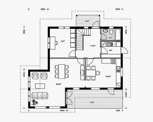 Planos de casas gratis plano casa madera 95 m2 - Planos casa madera ...