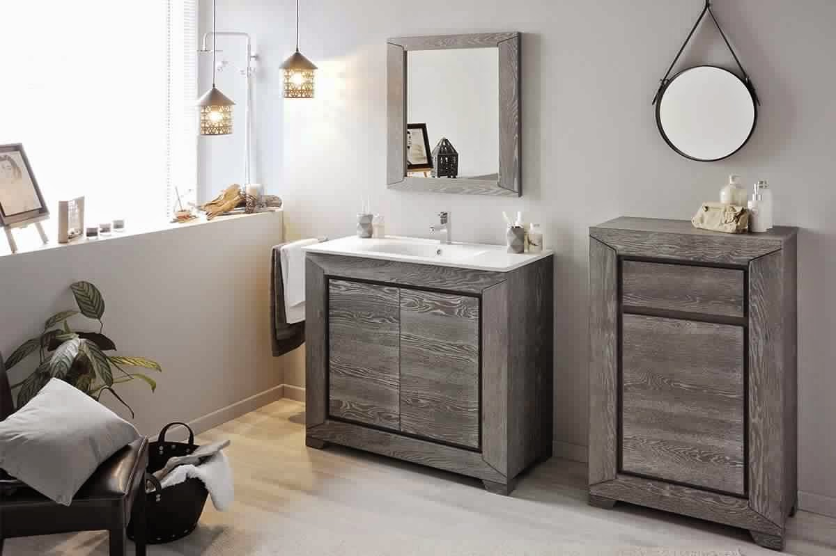 salle de bain gris bois. Black Bedroom Furniture Sets. Home Design Ideas