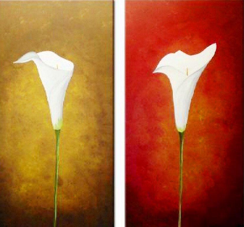 Cuadros modernos pinturas y dibujos flores pintadas - Cuadros de acrilico ...
