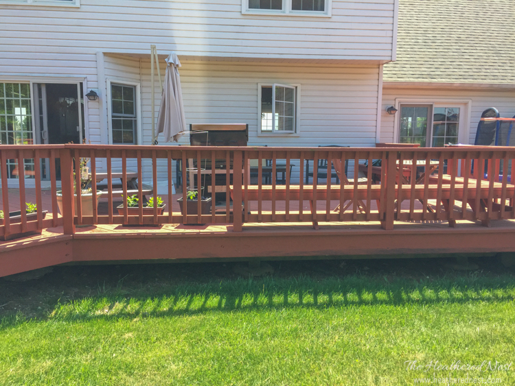 If i had a hammer aka plans for a diy deck makeover for Deck makeover on a budget