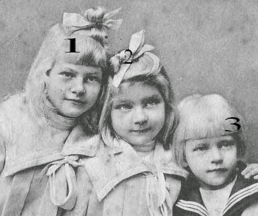 Stephanie, M. Antoinette et Albrecht von Hohenzollern