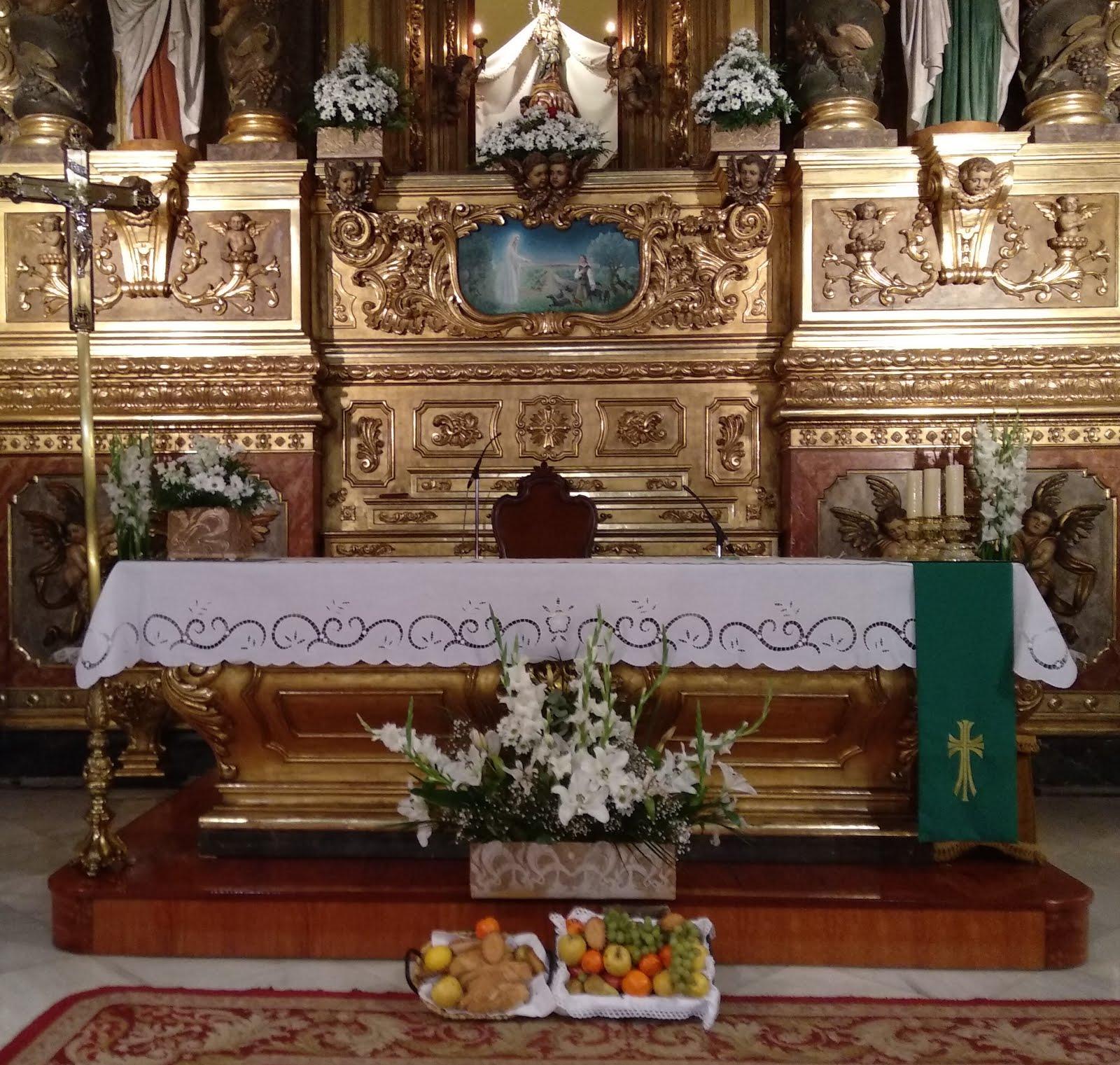 Benedicció dels aliments al Santuari de Misericòrdia de Reus