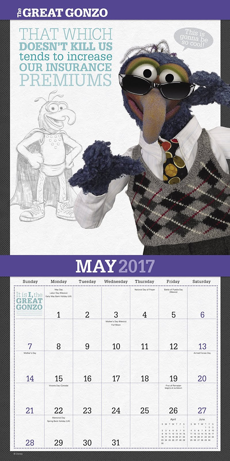 The Muppets 2017 Wall Calendar by Day Dream!   Muppet Stuff