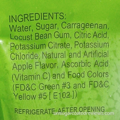 ingredients of Cool Taste Apple Flavored Jelly Drink