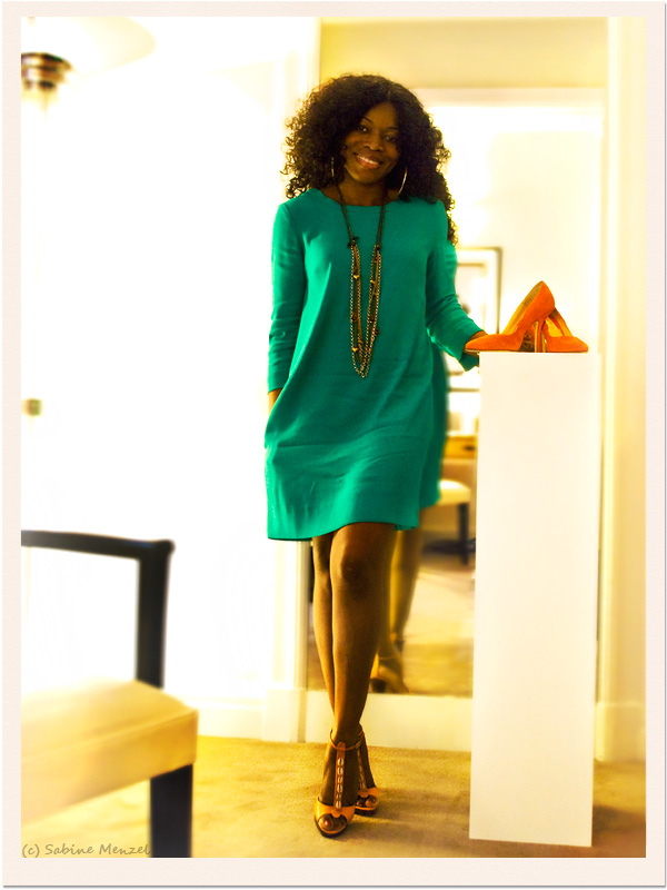 Psynopsis Theresa Ebagua Chelsea Paris Shoes Turquoise Silk Dress