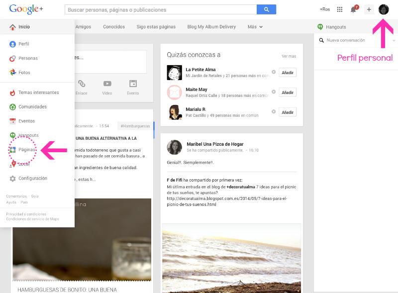 Cómo crear una página para tu blog en Google Plus - Tutorial