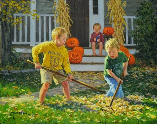The Boys of Autumn {My 3 Boys} by Robert Duncan