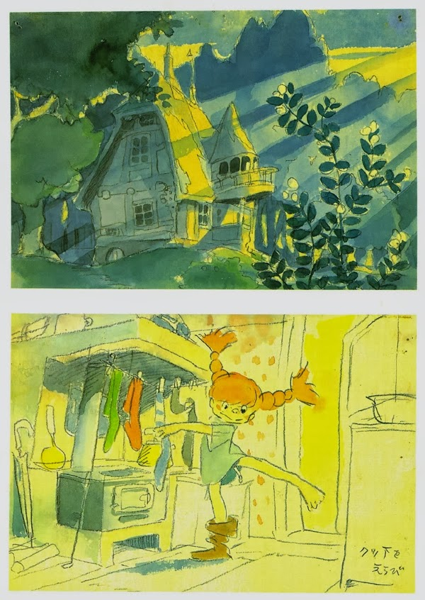 Pippi Langstrump al estilo Hayao Miyazaki