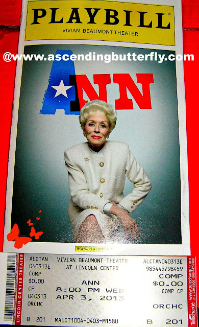 Ann, Ann Richards, Holland Taylor, VIVIAN BEAUMONT THEATER, Lincoln Center,