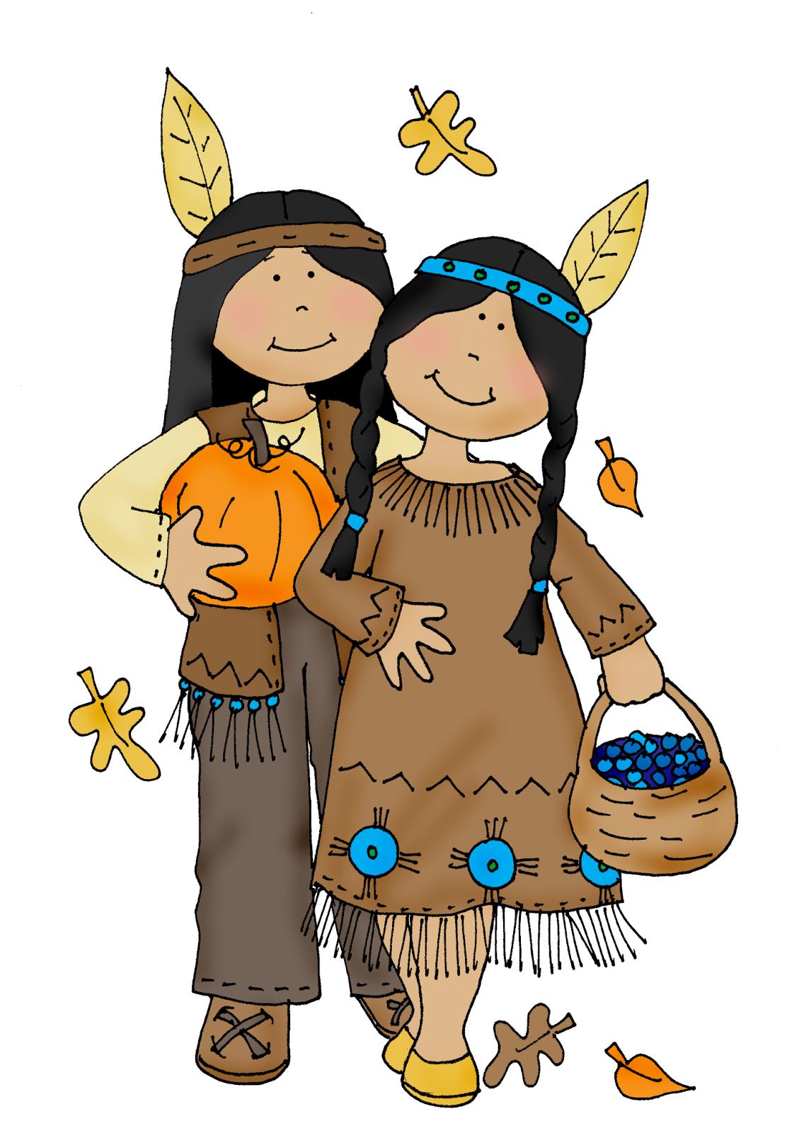 thanksgiving indian clip art - photo #6
