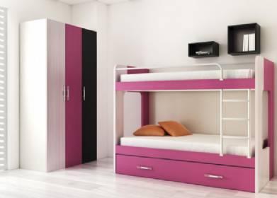 Dormitorios juveniles con literas for Cuartos para ninas literas