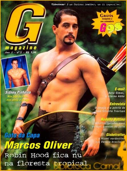 Marcos Oliver pelado G Magazine A Fazenda
