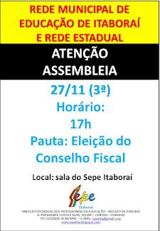 Redes Estadual e Municipal: Assembleia Unificada no dia 27/11