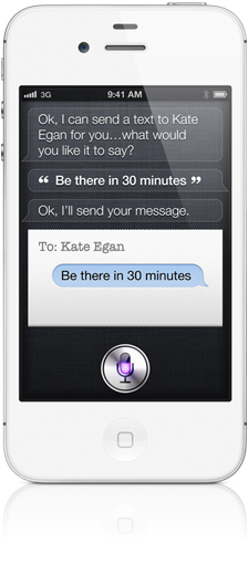 Features of Siri personal assistant for iPhone4s