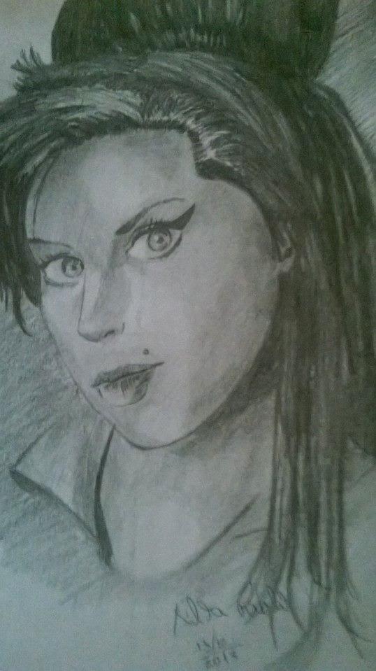 Amy Winehouse (desenho feito a lápis 6B)