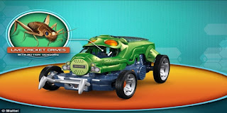 Mattel, Bug Racer, car driven by crickets, cricket car