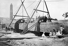 مسلة كليوباترا قبل نقلها الي لندن التقطت هذه الصورة في 1877 م