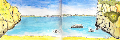 lagos beach urban sketching