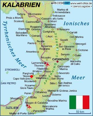 Cartina Politica della Calabria