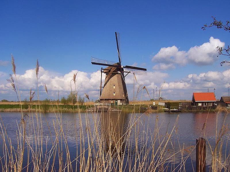 荷蘭小孩堤防風車村