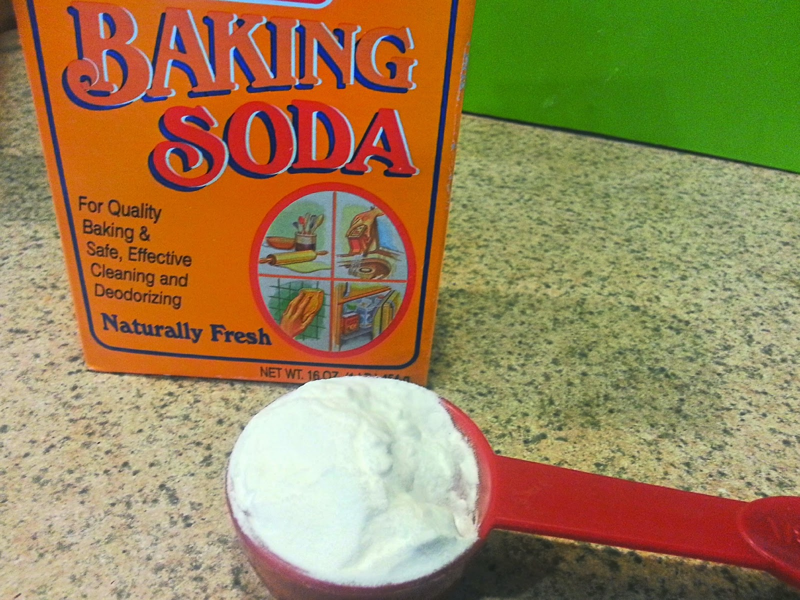remove product build up with this baking soda hair treatment