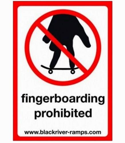 Fingerboarding Prohibited
