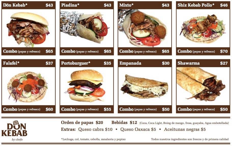El divan de diana fiebre de foodtrucks en m xico for Divan kebab carte