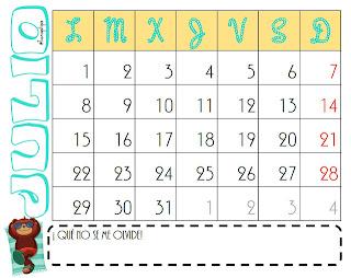 Calendário para impressão